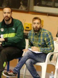Dani Gálvez junto a Uge Gómez en un partido de Albacete Basket