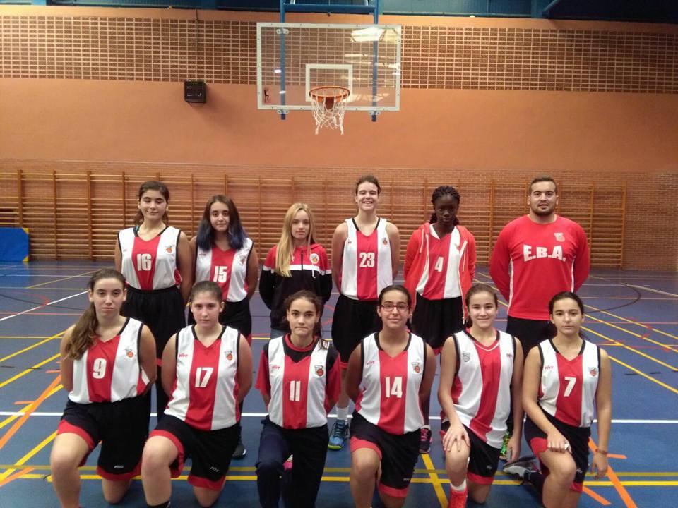 Ruperto Ruiz con el cadete Femenino EBA