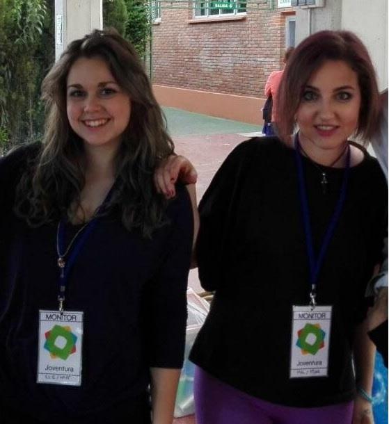 Mirian y Pilar encargadas de todas las actividades lúdicas en el Campus.